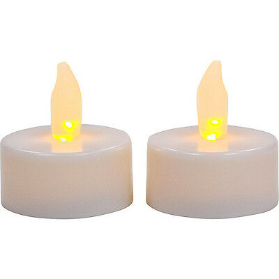 LED Flameless Tea Lights Candle 6 pack glows inside White NEW:GREAT GIFT