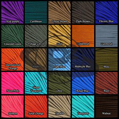 550 Paracord Mil Spec Type III 7 strand parachute cord 10ft, 20ft, 50ft, 100ft