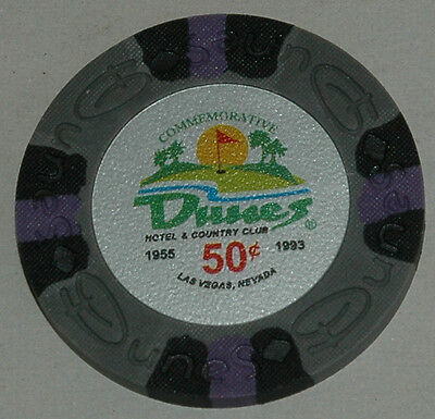DUNES Casino $0.50 Commemorative Chip, Las Vegas, NV. Uncirculated. Obsoleted