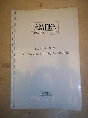Ampex Operator/Service Manual~S-5303 Language Recorder/Reproducer~Original