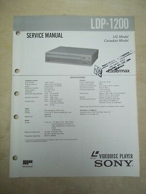 Sony Service Manual~LDP-1200 LaserVision Videodisc Player~Original