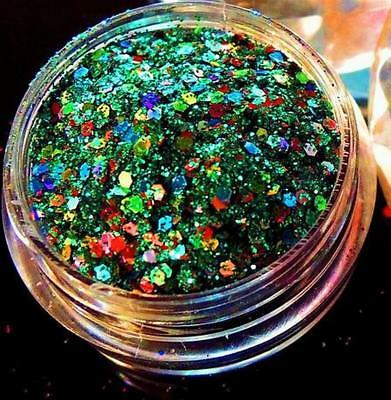 1 Döschen MULTI-GLITZZZER, #MG-159 HOLO-MIX GREEN-CARNIVAL
