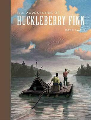 The Adventures of Huckleberry Finn by Mark Twain (English) Hardcover Book Free S