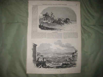 Antique 1855 Russia Horse Drawn Carriage Courier Boston Massachusetts Print Nr