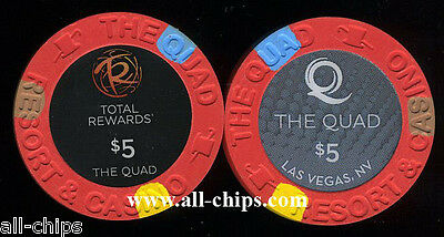 $5 The Quad Former Imperial Palace Las Vegas Casino Chip Uncirculated New 12/12