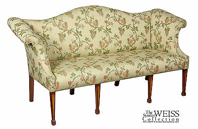 SWC-A Diminutive Mahogany and Satinwood Hepplewhite Settee/Sofa, England, c.1800