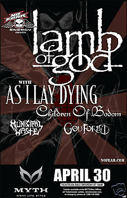Lamb Of God/as I Lay Dying/children Of Bodom '09 Poster