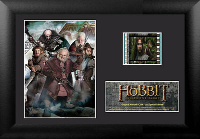 Film Cell Genuine 35mm Framed & Matted The Hobbit An Unexpected Journey 5967