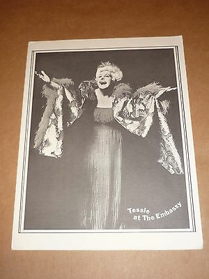 """Tessie O'Shea """"Tessie At The Embassy"""" 1978 US Concert Programme (Signed)"""