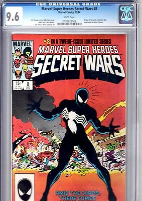 Marvel Super Heroes Secret Wars 8 CGC 9.6 1st Black costume FREE UK POST