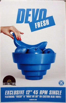 DEVO 2010 FRESH promotional poster ~NEW old stock & MINT condition~!!