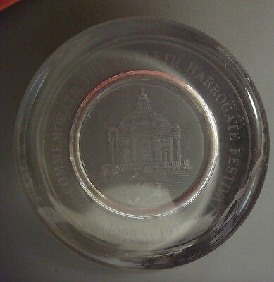 Etched Glass Paperweight-To commemorate the twelfth Harrogate Festival 1966-1977