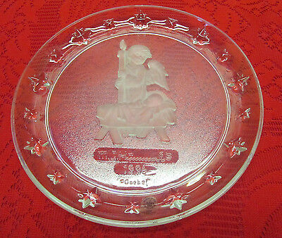 1996 Avon Hummel Collector Angel Plate 24% Lead Crystal Mc In Box 4Th In Series