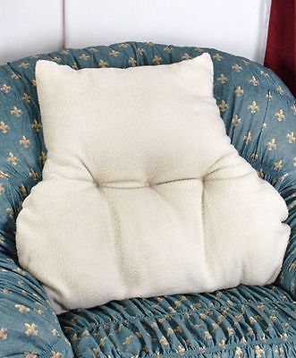 New Faux Armchair Sheepskin Back Lumbar Support  Pillow Soother Comfort Cushion