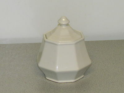 Homer Laughlin COLONIAL WHITE Sugar Bowl with Lid