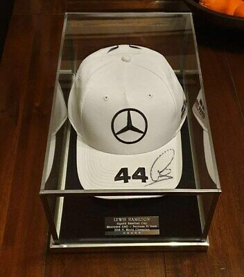 SIGNED BASEBALL CAP F1 or FOOTBALL CAP - GLASS DISPLAY CASE ONLY