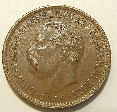 1886 Portuguese India 1/4 Tanga  Extra Nice  Must See
