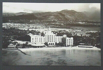 "Royal Hawaiian Hotel Waikiki Aerial 11 X 18"" Photo On Crystall Archive Paper"