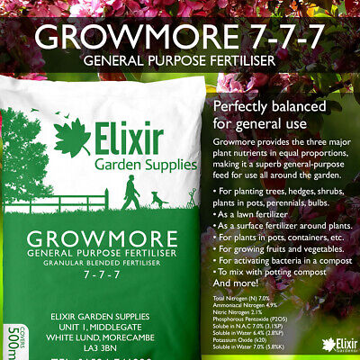 Growmore 07-07-07 Elixir Special Blend All Round General Purpose Fertiliser