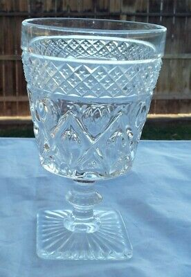 """Imperial Glass CAPE COD (#1602+#160) Water Goblet Wafer Stem 5½"""""""