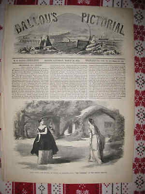 Superb Antique 1855 Boston Theatre Theater Opera Massachusetts Print Victorian N
