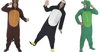 Adult Zoo Animal Onsies, All In One Mens and Ladies Unisex Fancy Dress Costumes
