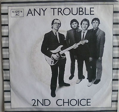 """7"""" 1980 STIFF RARE! ANY TROUBLE 2nd Second Choice /VG+"""
