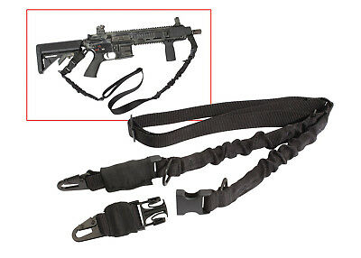 rifle sling 2 point black tactical military style rothco 4656