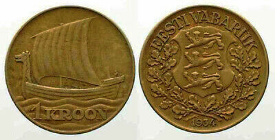 Estonia 1934 1 Kroon (KM16)