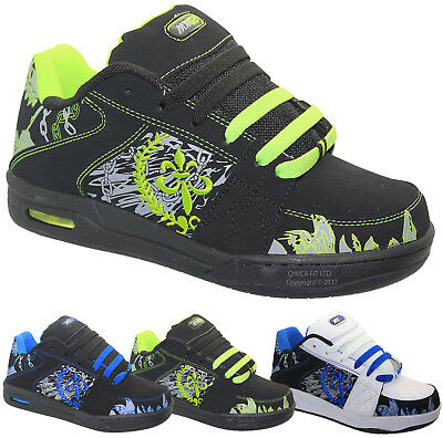 Boys Trainers Skater School Baseball Skate Boots Shoes Sizes 13-6 Uk Rrp £19.99