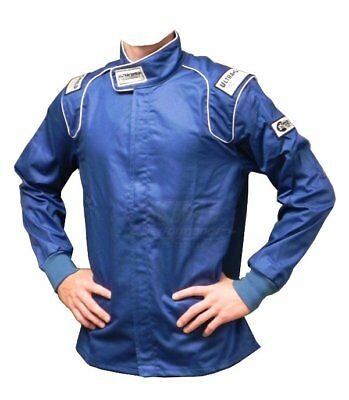 ULT 30143 Blue X-Large Single Layer Race Driving Fire Suit Jacket SFI 3.2A/1