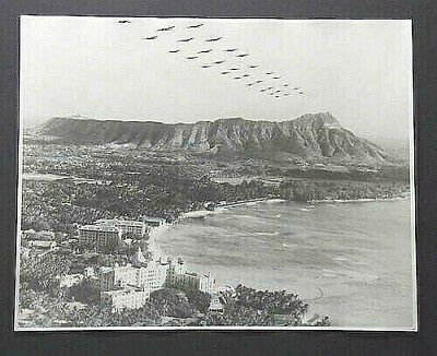 BOMBERS OVER WAIKIKI 16x20 INCH HAND PRINTED UNMOUNTED SILVER HALIDE PHOTOGRAPH