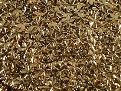 Sequins Flowers 14mm Metallic Soft Gold 25g Crafts Costume Dance FREE POSTAGE