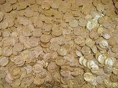 Belly Dancing Coins Gold 10mm Pack of 50 Costume Dancewear FREE POSTAGE