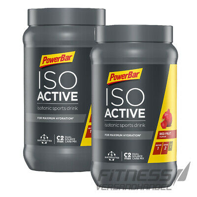 (13,32€/kg) 2x  PowerBar Isoactive Isotonic Sports Drink 600g Dose