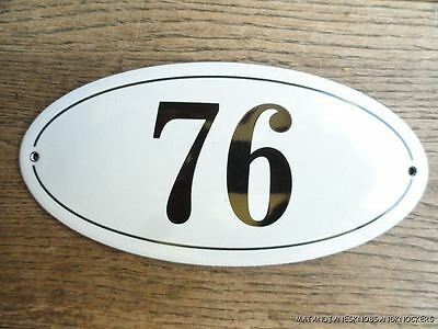 Antique Style Enamel Door Number 76 House Number Door Sign Plaque