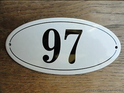 Antique Style Enamel Door Number 97 House Number Door Sign Plaque