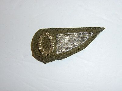 b1478 WW 1 US Army Observer Half Wing  cloth bullion