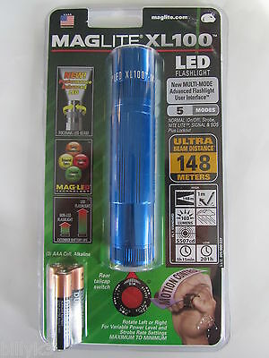 Maglite - XL100 Ultra Bright LED Flashlight - Blue Color - Made in USA!