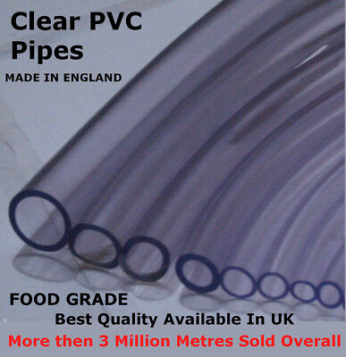 Clear Pvc Flexible Tubing Fish Pond Hydroponics Plastic Hose Water Pipe Tube Uk