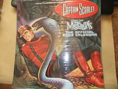 Gerry Anderson Captain Scarlet 2002 Calendar Itc Sealed