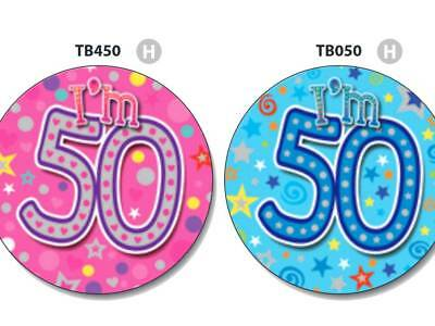 "/""80 Today/"" Big Badge Pink 80 Giant Birthday 80th Age Jumbo 15cm Pinksilver"