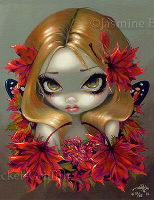 Red Maple Fairy Jasmine Becket-Griffith CANVAS PRINT big eye fantasy lowbrow art