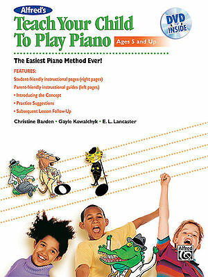 ALFRED'S TEACH YOUR CHILD TO PLAY PIANO - PIANO METHOD BOOK/CD