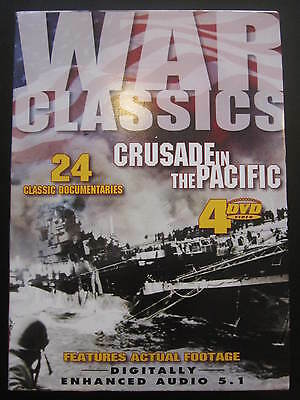 War Classics-Crusade in the Pacific (DVD, 4 disc set) features actual footage