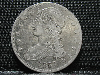 1837 Capped Bust Half Dollar-Nice Speciman- Free Shipping!!