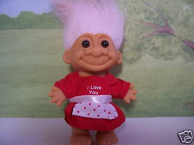 "VALENTINE I LOVE YOU GIRL - 5"" Russ Troll Doll - NEW"