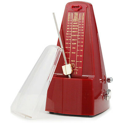 Elegant Pyramid Metronome Tempo for Musicians Piano Guitar Wind- up Clockwork