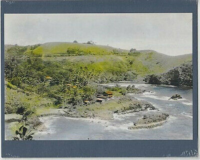 "HISTORIC ONAMEA SCENIC 1920's HAND COLORED B&W GICLEE PRINT ON 8X10"" MATT"