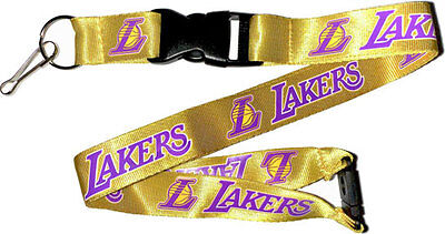Los Angeles Lakers Gold Lanyard Keychain Key Chain NBA New
